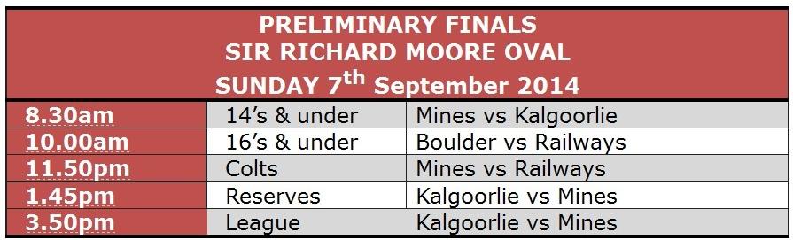 KCFC Prelim fixtures