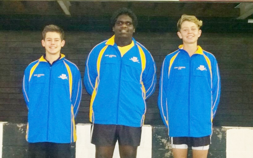 Under 14's, Left to Right: Lakeman Newland, Shaydon Smith, Ben Hannam