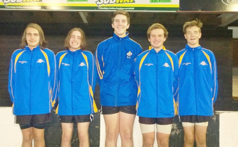 Under 16's, Left to Right: Bailey Gibbs, Campbell Rule, Marko Hodges, Jake Watson, Darcy Klemm